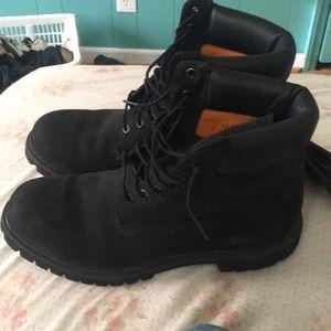 Size 10.5 Black Timberland Boots